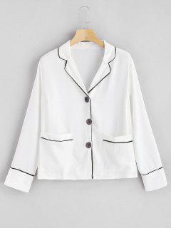 Chemise Boutonnée à Boutonnière - Blanc M