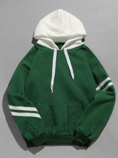 Kangaroo Pocket Fleece Pullover Hoodie - Deep Green Xl