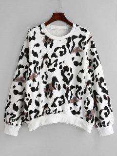 Sweat-shirt à Imprimé De Vache - Blanc