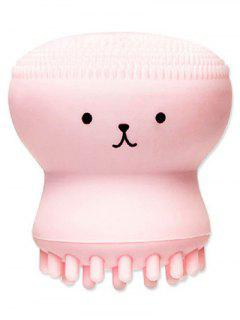 Cartoon Octopus Silicone Facial Cleansing Brush - Pink