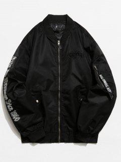 Graphic Pockets Souvenir Jacket - Black S