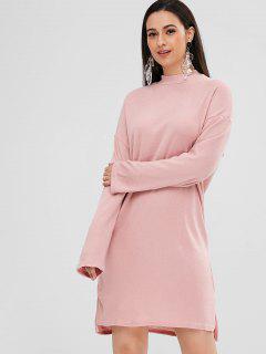 Seitenschlitz High Low Kleid - Rosa L