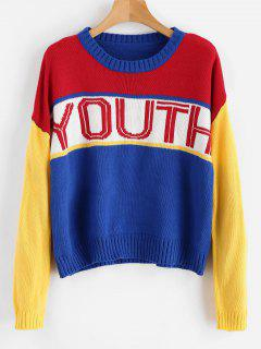 Color Block Youth Sweater - Multi
