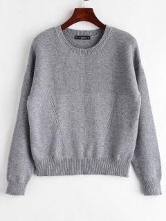 ZAFUL Marl Plain Sweater - Gray
