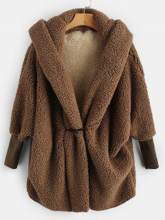 Oversized Fluffy Teddy Winter Coat - Coffee
