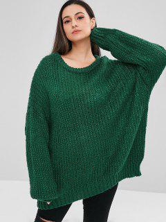 ZAFUL Oversized Chunky Sweater - Medium Sea Green