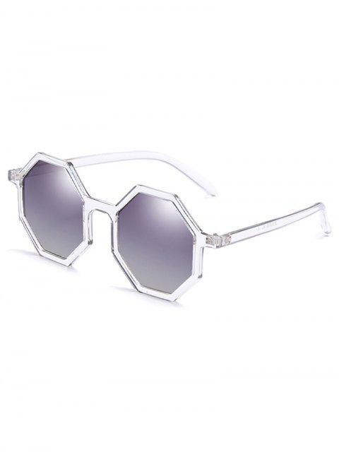 shop Irregular Lens Full Frame Sunglasses - WHITE  Mobile