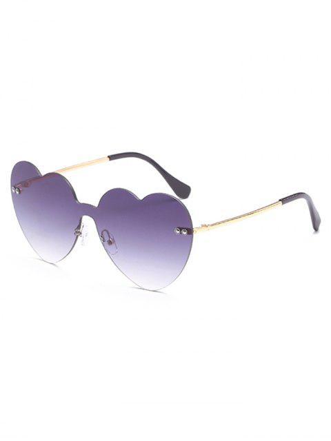 unique Vintage Heart Lens Rimless Sunglasses - LIGHT SLATE GRAY  Mobile