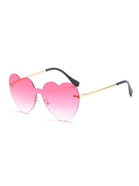 Gafas de sol sin marco Vintage Heart Lens - Rosa  Mobile