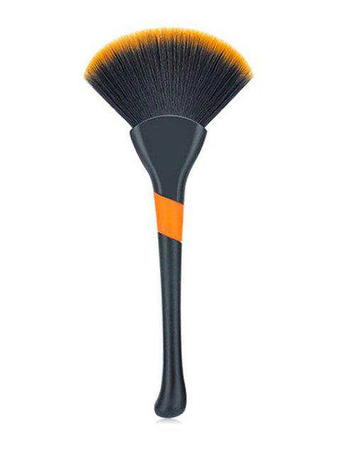 outfit Multifunctional Cosmetic Ultra Soft Fiber Hair Fan Brush - BLACK  Mobile