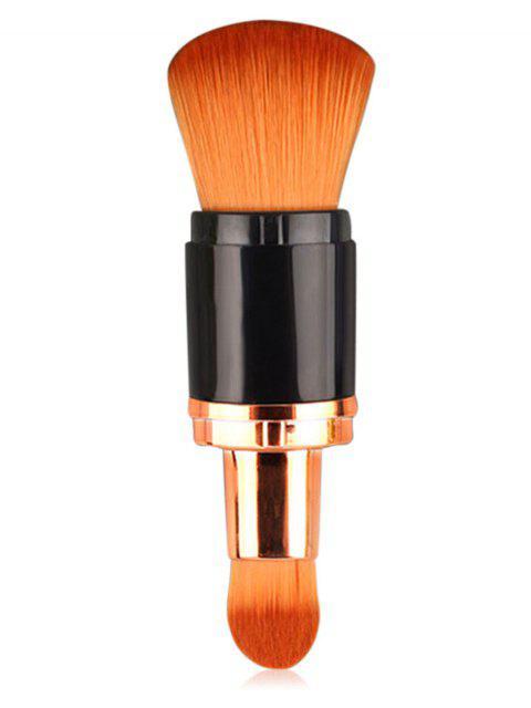 shop Professiolan Double Ended Fiber Hair Telescopic Makeup Brush - BROWN  Mobile