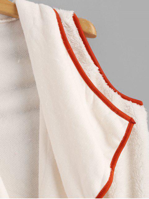Chaleco de plumas Fluffy Turndown - Blanco Cálido S Mobile