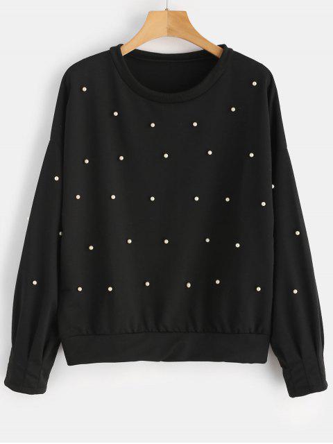 Sudadera con cuello redondo - Negro XL Mobile