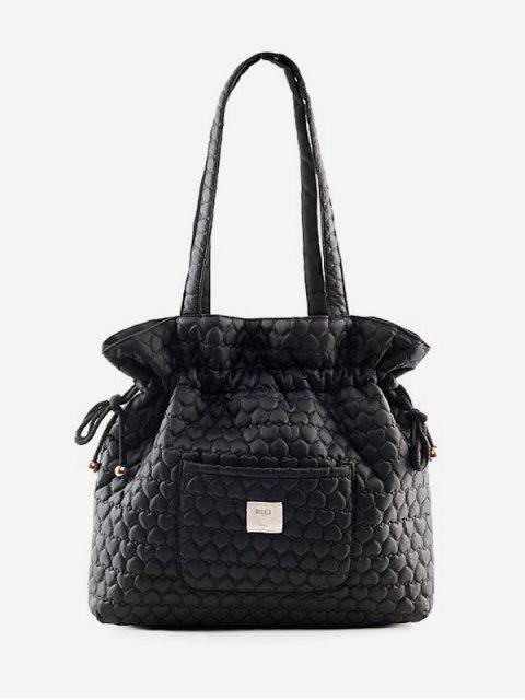 Sac seau motif coeur design - Noir  Mobile