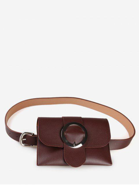 fashion Buckle Multi Function Waist Bag - COFFEE  Mobile