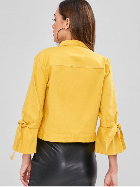 ZAFUL Pocket Tie Sleeve Boxy Jacket - Amarillo XL Mobile