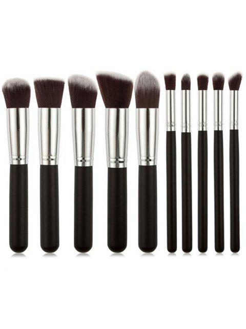 Ensemble de Brosse Professionnelle de Maquillage de Voyage avec Manche en Blanc 10 Pièces - Noir Ordinaire Mobile