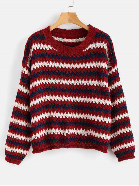 Pull en tricot à épaules dénudées - Multi Taille Unique Mobile