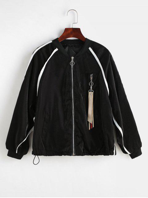 Veste à manches raglan à fermeture éclair - Noir Taille Unique Mobile