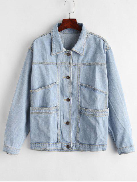 Veste jean boutonnée - Bleu Toile de Jean L Mobile