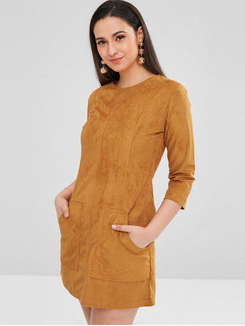 ZAFUL bolsillos mini vestido de gamuza sintética - Caramelo S Mobile