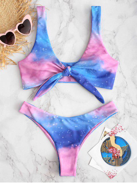 ZAFUL Bikini Noué Ciel Étoilé - Multi-A S Mobile