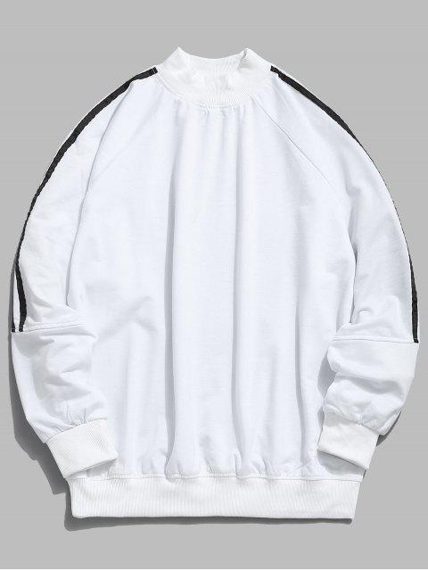Raglan-Hülsen-Streifen-Sweatshirt - Weiß XL Mobile