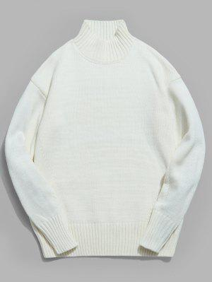 Drop-Shoulder-Ärmel Rollkragenpullover