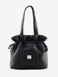 حقيبة دلو نمط سلسلة تصميم دلو - أسود