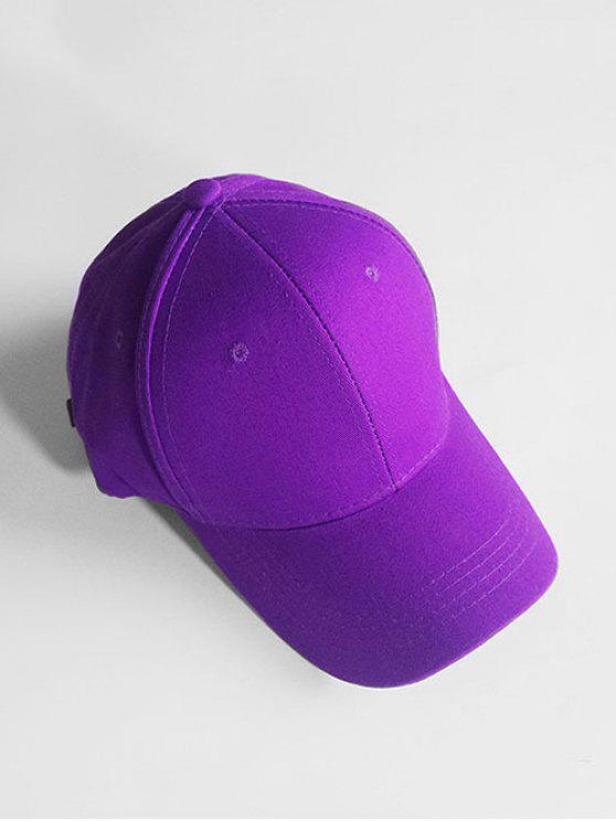 womens Lightweight Solid Color Adjustable Sunscreen Hat - PURPLE