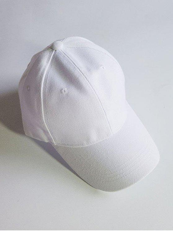 lady Lightweight Solid Color Adjustable Sunscreen Hat - WHITE