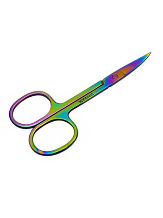 women's Professional Stainless Steel Eyebrow Trimmer Scissors - MULTI