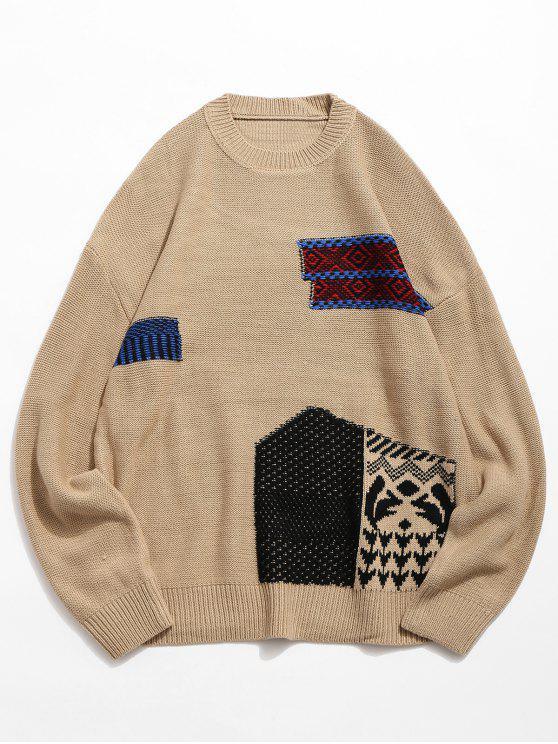 52% RABATT] 2018 Geometrische Muster Pullover Gestrickte Pullover ...