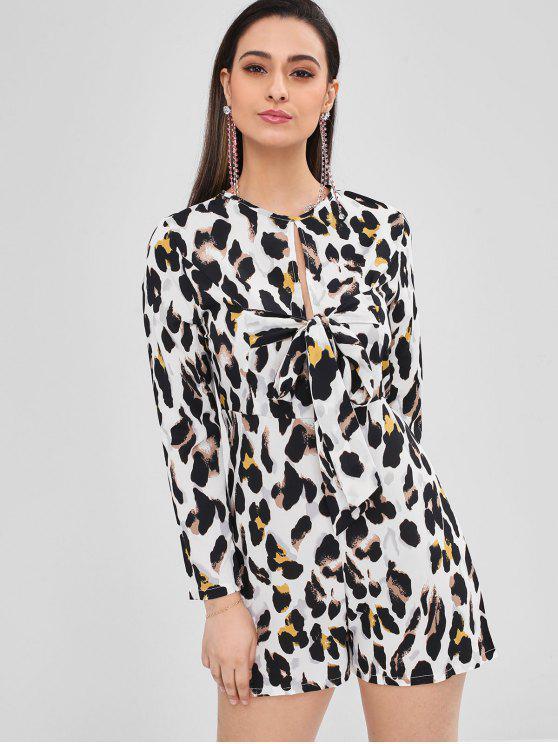 Barboteuse léopard à manches longues et noeud - Léopard XL