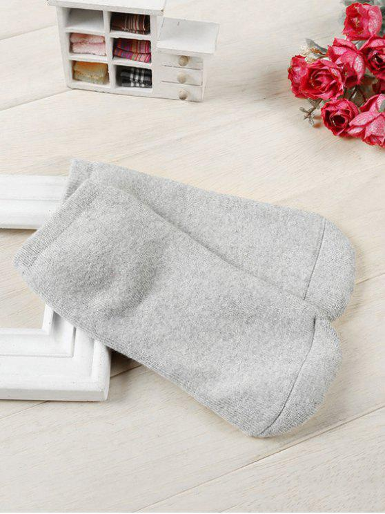 outfit Solid Color Cotton Ankle Socks - PLATINUM