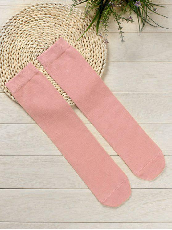 ladies Solid Color Medium Stockings - LIGHT PINK