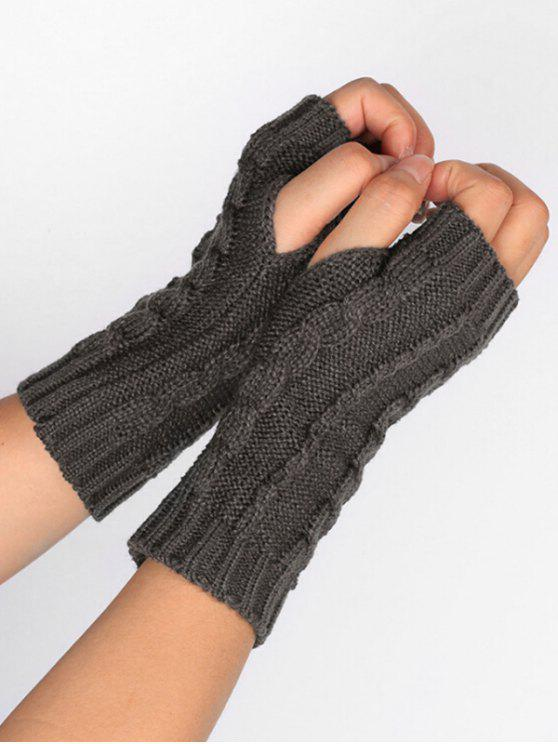 outfit Solid Color Fingerless Ski Gloves - GRAY