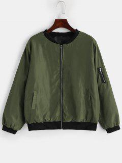 Chaqueta De Bombardero De Bolsillo Para Uso General - Verde Marrón Claro S