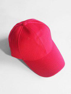 Lightweight Solid Color Adjustable Sunscreen Hat - Lava Red