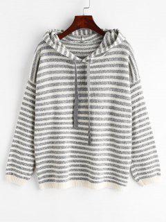 Striped Hooded Sweater - Multi