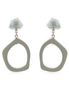 Irregular Geometry Design Drop Earrings - Camouflage Green