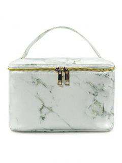 Portable Marble Pattern Large Capacity Toiletry Bag - #001