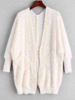 Fluffy Dolman Sleeve Cardigan - Warm White