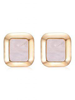 Fog Printed Geometric Shape Stud Earrings - Warm White