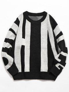 Suéter Hecho Punto De La Personalidad - Blanco 2xl