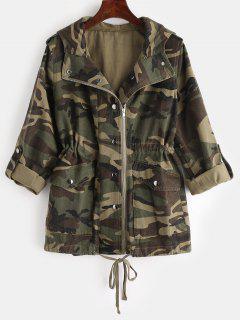 Hooded Camo Jacket - Multi L