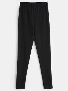 ZAFUL Stretchy Plain Skinny Pants - Black S