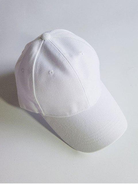 Chapeau Léger Potection Solaire Ajustable en Couleur Unie - Blanc  Mobile