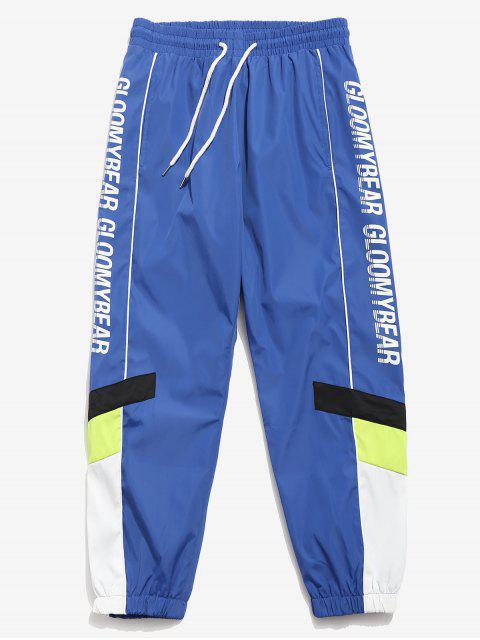 Pantalones de jogger deportivos de secado rápido Letter - Azul L Mobile
