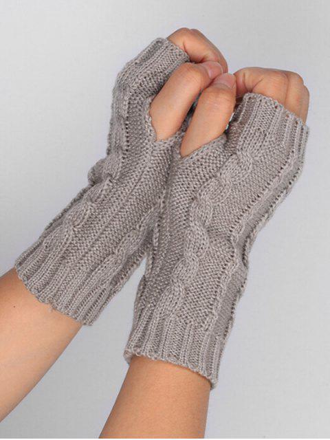 outfits Solid Color Fingerless Ski Gloves - BATTLESHIP GRAY  Mobile